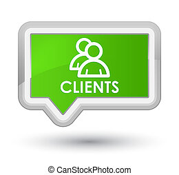 Clients (group icon) prime soft green banner button
