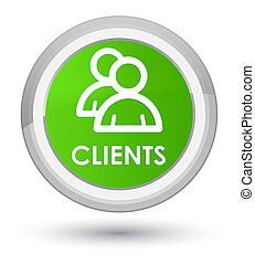 Clients (group icon) prime soft green round button