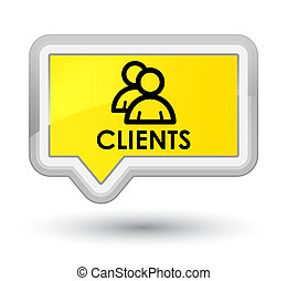 Clients (group icon) prime yellow banner button