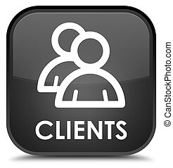 Clients (group icon) special black square button