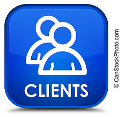 Clients (group icon) special blue square button