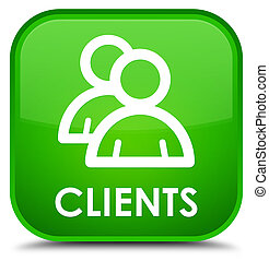 Clients (group icon) special green square button