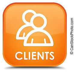 Clients (group icon) special orange square button