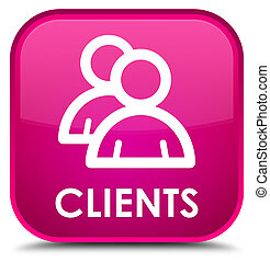 Clients (group icon) special pink square button