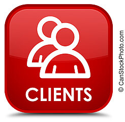 Clients (group icon) special red square button