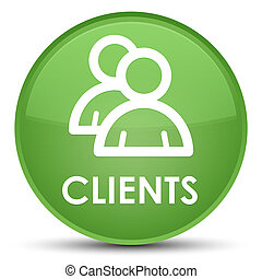 Clients (group icon) special soft green round button