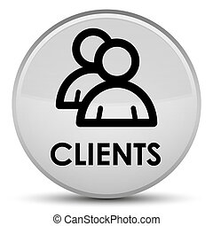 Clients (group icon) special white round button
