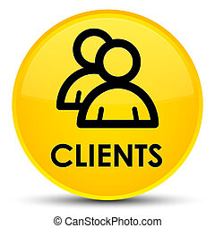 Clients (group icon) special yellow round button