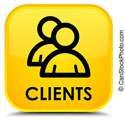 Clients (group icon) special yellow square button
