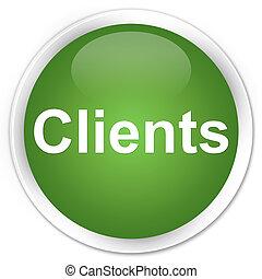 Clients premium soft green round button