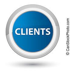 Clients prime blue round button