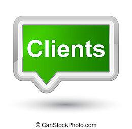 Clients prime green banner button