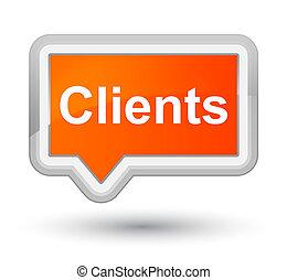 Clients prime orange banner button
