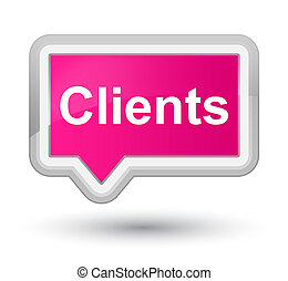 Clients prime pink banner button
