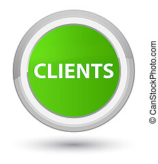 Clients prime soft green round button