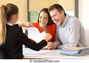 clients, rupture, il, contrat, fin, heureux