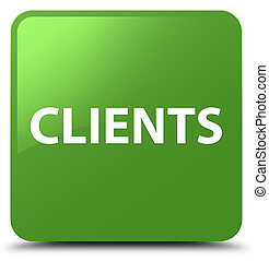 Clients soft green square button