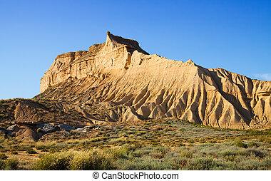 cliff at semi-desert landscape