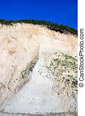 Cliff at the baltic sea coast