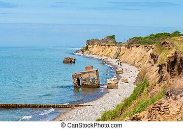 Cliff coast Hohes Ufer near Ahrenshoop, baltic sea