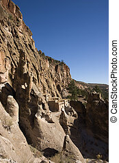 Cliff Dwellings at Bandrlier New Mexico