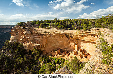 Cliff dwellings in Mesa Verde National Parks, USA