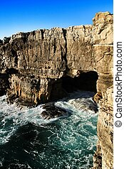 Cliff formation in Cascais called The Boca do Inferno
