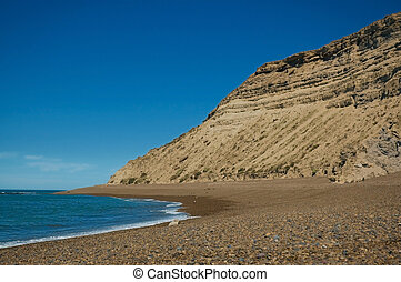 Cliff in the coast of Peninsula Valdes.