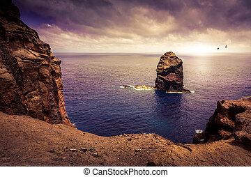 Cliff in the ocean