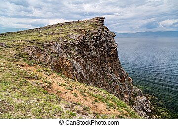 Cliff, Lake Baikal in Russia