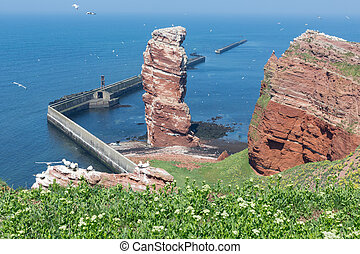 Cliff Lange Anna at western point of German island Helgoland...