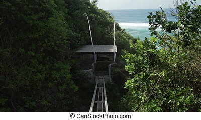 Cliff lift to Sundays beach Club from Ungasan Clifftop...