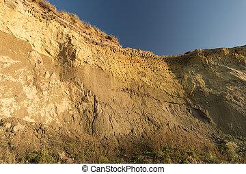 Cliff near Ahrenshoop in Geramy
