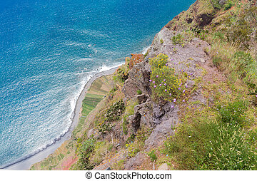 Cliff of Gabo Girao at Madeira Island, Portugal