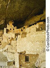 Cliff Palace in Mesa Verde, Ruins of an Anasazi Pueblo