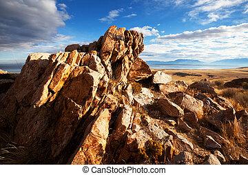 Cliff - Salt Lake landscapes,USA