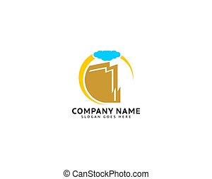 Cliff vector logo design graphic template