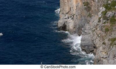 cliff where the waves break