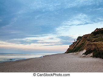 Cliffed coast of the Black Sea in Ukraine