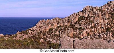 cliffs and coastline