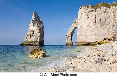 Cliffs at Etretat - The famous cliffs at Etretat from the ...