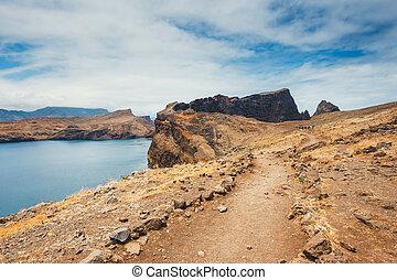 Cliffs at Ponta de Sao Lourenco, Madeira, Portugal