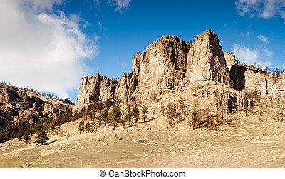 Cliffs Bluffs Valley Farmland Pacific Northwest Territory - ...