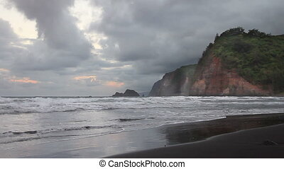 Cliffs by Ocean Time Lapse