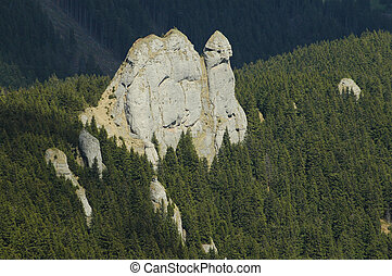 Cliffs in Ciucas mountains, Romania
