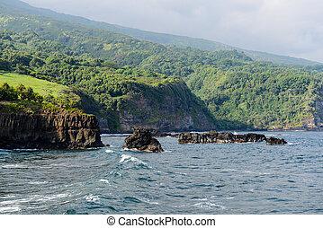 Cliffs in Maui Hawaii
