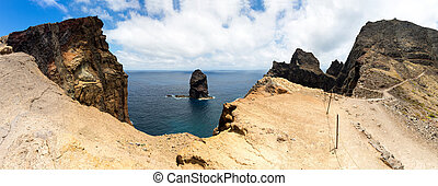 Cliffs in the sea