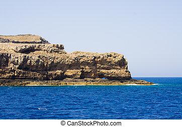 Cliffs near famous Balos beach, Crete, Greece