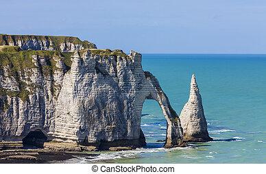 Cliffs of Etretat, Normandy,France