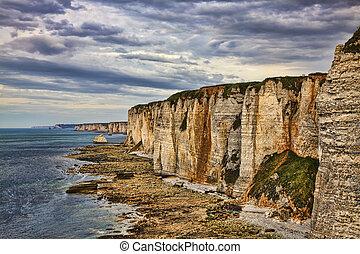 Cliffs of Etretat - Specific cliffs in Etretat in the...